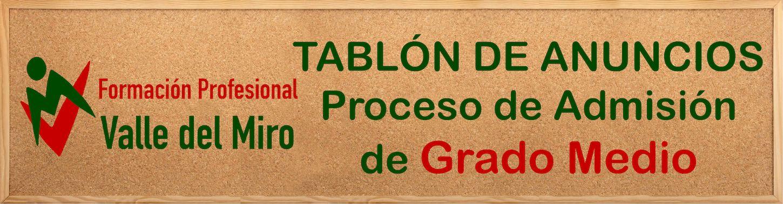 Proceso de Admisión Formación Profesional Básica